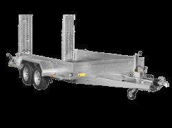 Baumaschinen Transporter mit Stahlrampen